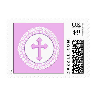 Pink Cross Small Stamp