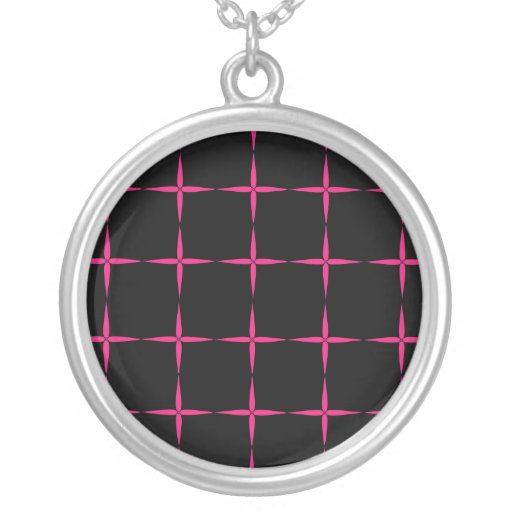 Pink Crosses Necklace