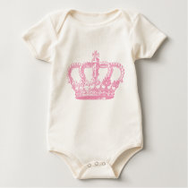 Pink Crown Baby Bodysuit