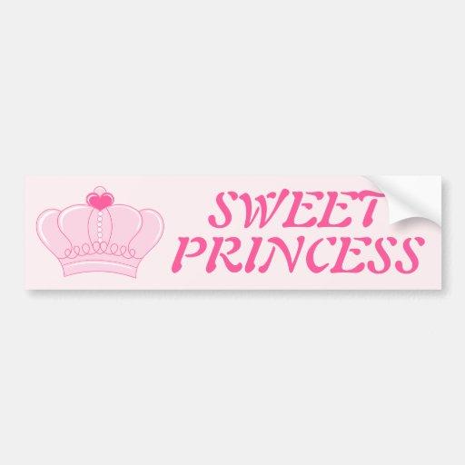 Pink Crown Bumper Sticker