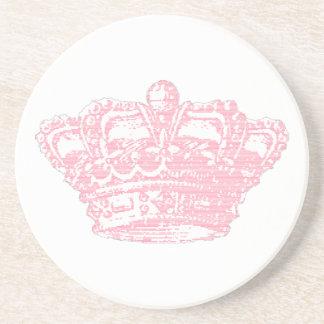 Pink Crown Drink Coaster