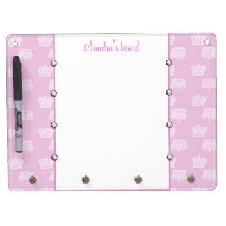 Pink Crown Dry Erase Board