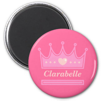 Pink Crown for the Royal Princess 2 Inch Round Magnet