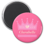 Pink Crown for the Royal Princess Magnet