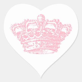 Pink Crown Heart Sticker