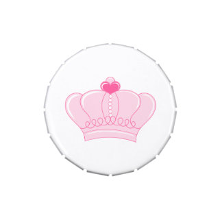 Pink Crown Jelly Belly Candy Tin