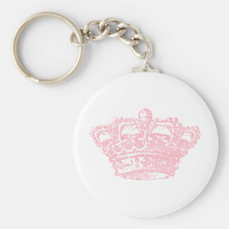 Pink Crown Keychain