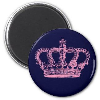 Pink Crown Fridge Magnets