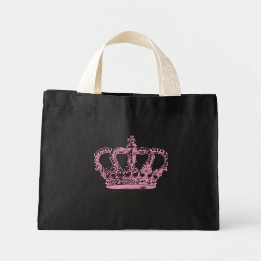 Pink Crown Mini Tote Bag