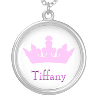 Pink Crown Necklace