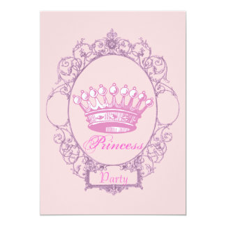 Pink Crown Princess Birthday Party invitation