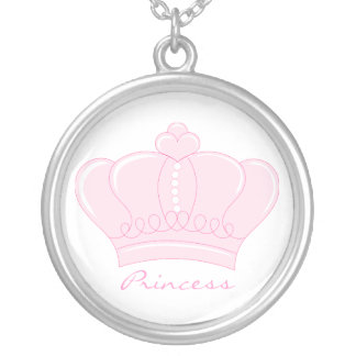 Pink Crown - Princess Silver Plated Necklace