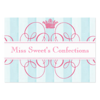 Pink Crown Sweet Shop Large Large Business Cards (Pack Of 100)