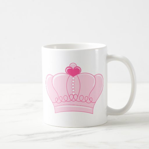 Pink Crown with Heart Classic White Coffee Mug