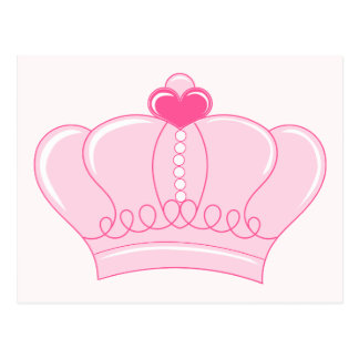 Pink Crown with Heart Postcard