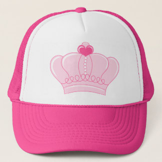 Pink Crown with Heart Trucker Hat