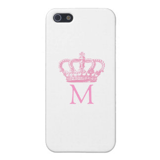 Pink Crown with Monogram iPhone SE/5/5s Cover