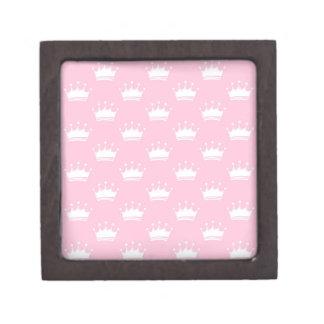 Pink crowns jewelry box