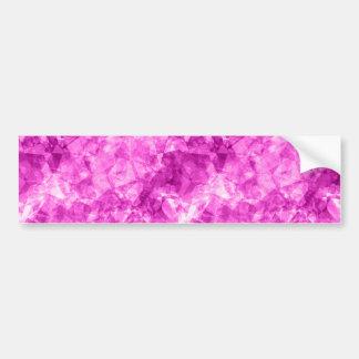 Pink Crumpled Texture Bumper Sticker