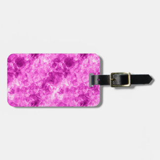 Pink Crumpled Texture Tag For Luggage