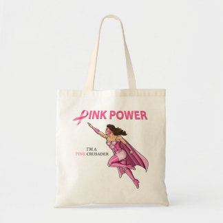 Pink Crusader Breast Cancer Awareness Tote Bag 2
