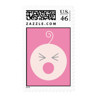 Pink Cry Baby Postage Stamp