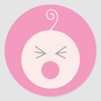 Pink Cry Baby Sticker