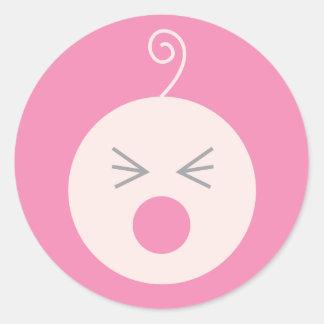 Pink Cry Baby Sticker