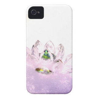 Pink crystal lotus iPhone 4 case