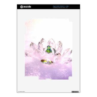 Pink crystal lotus iPad 2 skin