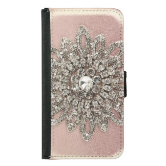 Pink Crystal Sheen Iphone 5 Wallet Case