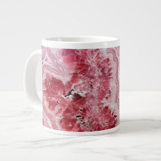 Pink Crystals Geode Giant Coffee Mug