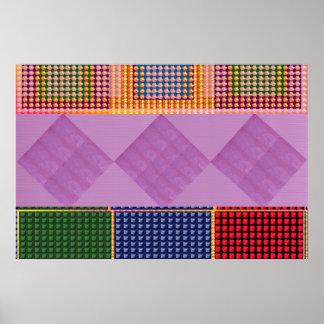 PINK Crystals NavinJoshi Large Format 36x24 art Poster