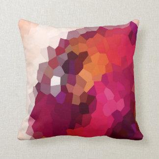 Pink Crystals Throw Pillow