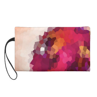 Pink Crystals Wristlet Purse