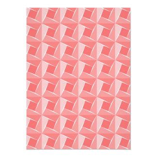 Pink Cubes. Geometrical Artistic Pattern Card