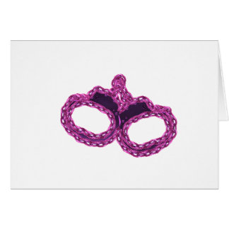 PINK CUFFS GREETING CARDS