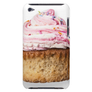 Pink cup cake, on white background, cut out iPod touch case