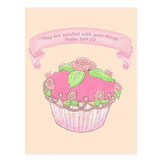 Pink Cupcake 2~ Scripture Postcard