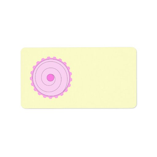Pink Cupcake. Address Label