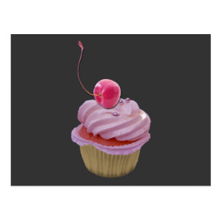 Pink Cupcake and Cherry Post Cards