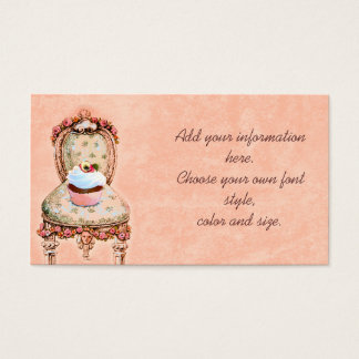 Pink Cupcake and Roses Business Profile Cards