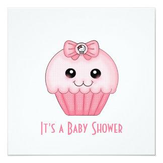 Pink Cupcake Baby Shower Invitation
