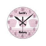 Pink Cupcake Bakery Clock