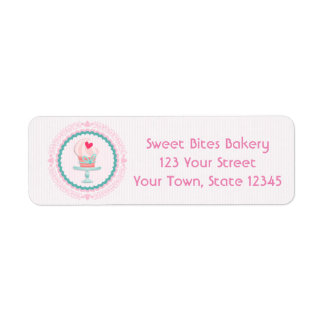Pink Cupcake Bakery Label
