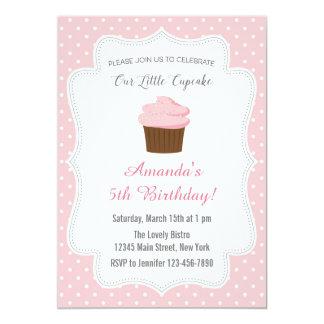 Pink Cupcake Birthday Invitation