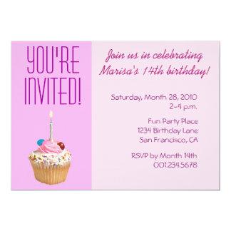 Pink Cupcake Birthday Invite