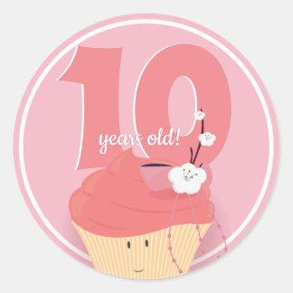 Pink Cupcake Birthday | Sticker