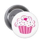 Pink Cupcake Buttons