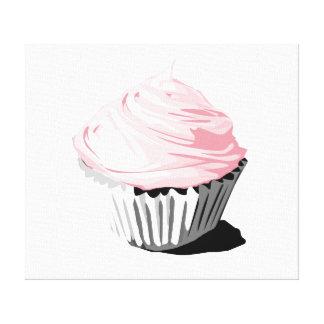 Pink cupcake canvas print